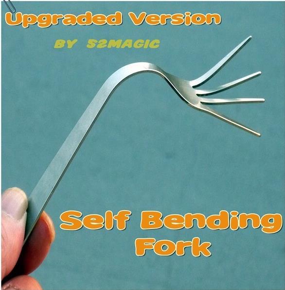 Livraison gratuite! Nouveauté auto-flexion fourche 2.0 (Version améliorée) mentalisme magie Gimmick gros plan Illusions, tour de scène