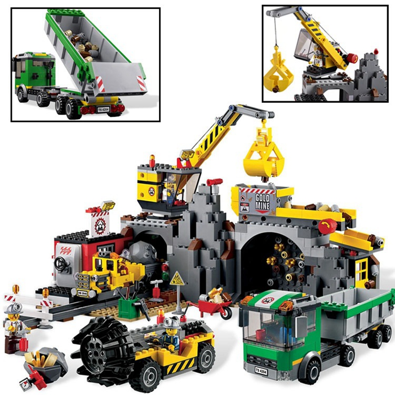 Lepin 02071 City Series the City Mine Set Model & Building Blocks Bricks 4204 Educational Children Toys Christmas Gift 407pcs sets city police station building blocks bricks educational boys diy toys birthday brinquedos christmas gift toy