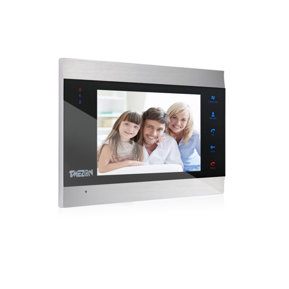 """Tmezon Video Door Phone System Single 7"""" TFT Indoor Monitor With TF Card Slot"""