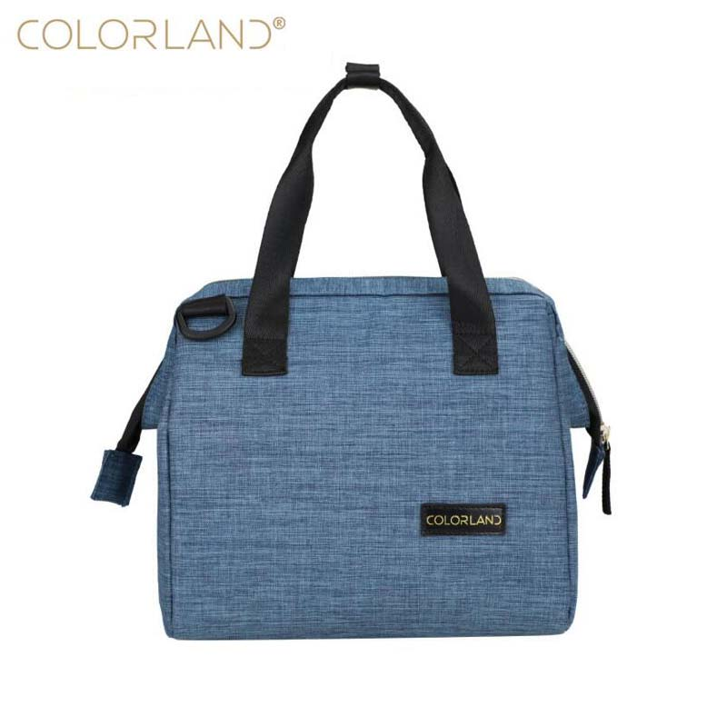 COLORLAND brand fashion insulation bag lunch bag storage bag out baby lunch mommy baby storage bag diagonal cross mommy diaper b