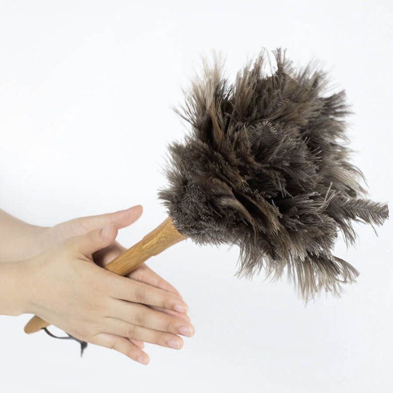 Youpin Ostrich Feather Soft Duster Brush Dust Cleaner Hair Adsorption Air-condition Furniture Household Cleaning tool(China)