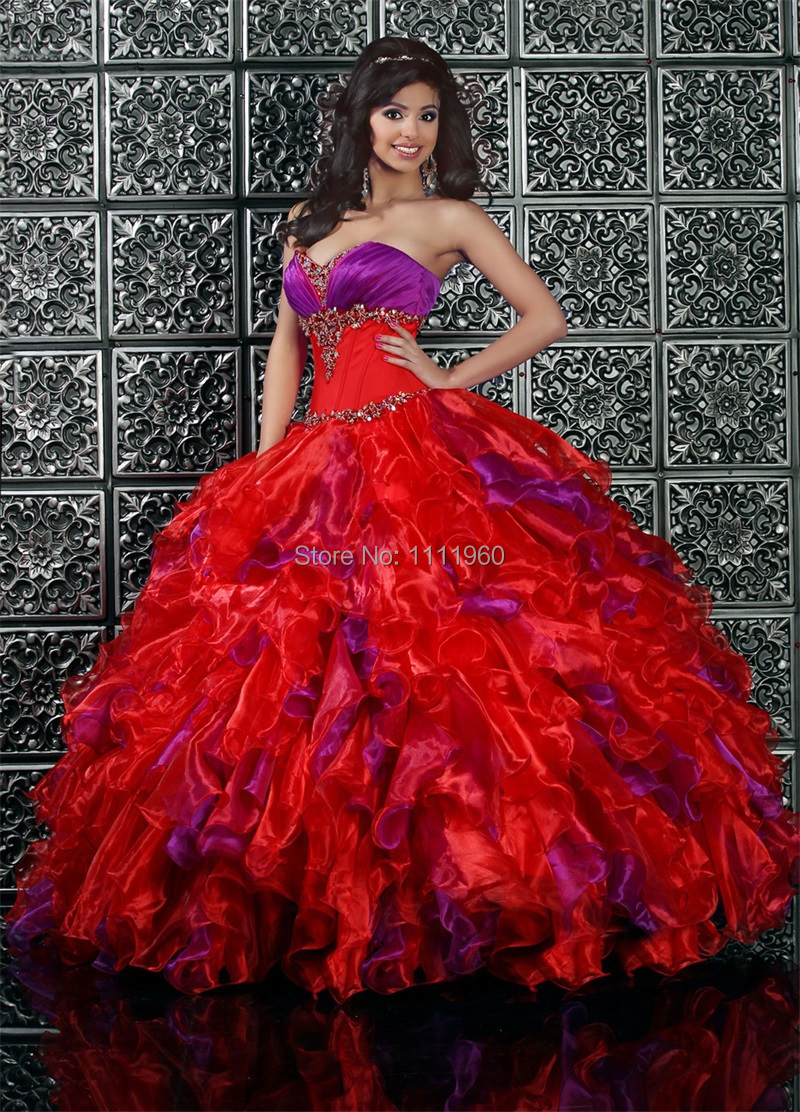 a16b0e46f83 Trendy Design Quinceanera Dresses With Sweetheart Organza Delicate  Appliques Ball Gown Red Prom Dresses Free Shipping SQ156