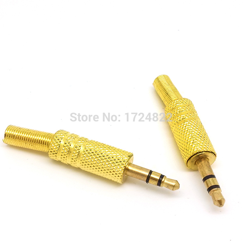 new 10pcs 3 pole plug male headphone jack 3 5 mm. Black Bedroom Furniture Sets. Home Design Ideas