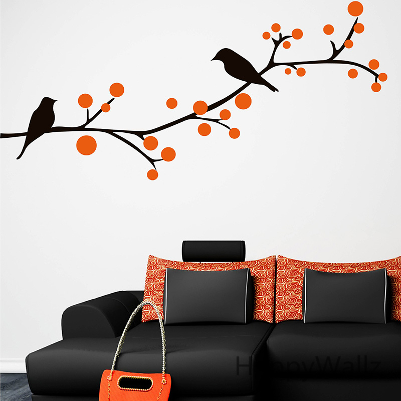 Branch Birds Wall Sticker Tree Wall Decal Baby Nursery Home Decoration DIY Vinyl  Wall Art Tree