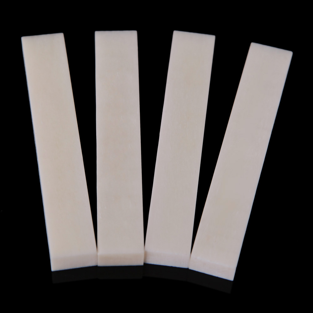 Durable Compact 4pcs/set Ox Bone Material 52*9*6mm DIY Unslotted Guitar Nut For Guitar Accessory Bass String Instrument