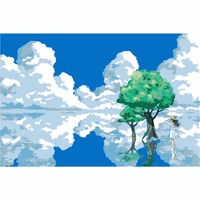 DIY Pictures On Canvas Diy Digital Oil Painting By Numbers Wall Art Home Decor Beautiful Blue