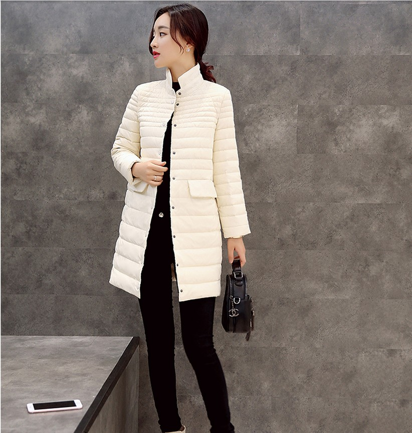 2017 Latest Winter Fashion Women clothing Thickening Stand collar Super warm Medium long Coat Slim Big yards Down jacket SJ1167