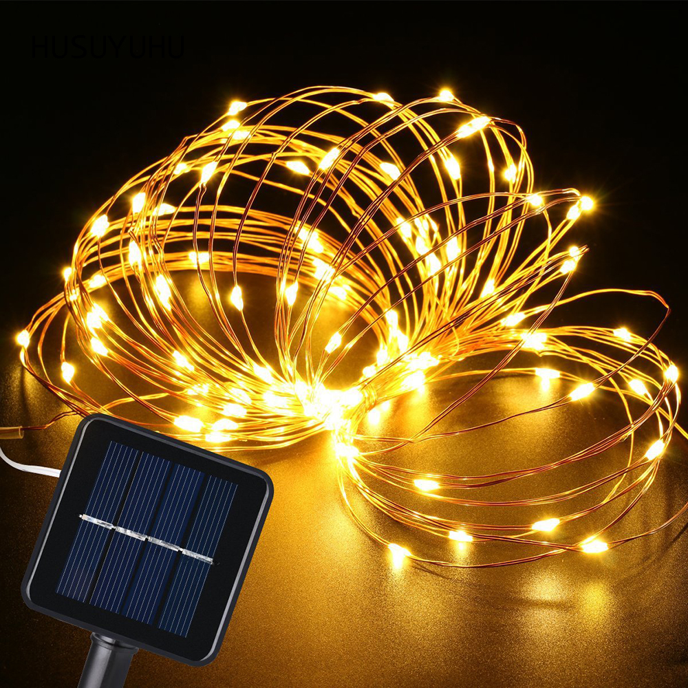 HUSUYUHU 20 M 200 <font><b>LED</b></font> <font><b>Solar</b></font> <font><b>Powered</b></font> String Lichter Wasserdichte Outdoor Urlaub Hause Weihnachten Party Girlande Decor Licht Lampen image
