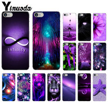 Yinuoda infinity on purple Transparent TPU Soft Silicone Phone Cover for iPhone 7 7plus 5 5Sx 6 8 8Plus X XS MAX XR(China)