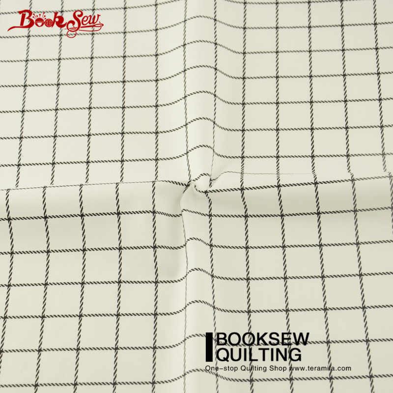 Booksew اللحف النسيج المطبوعة أنماط 100% القطن الأسود والأبيض الشيكات المواد Telas خليط الخياطة Tecidos الفقرة Costura