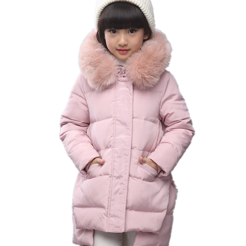 Down Jacket for Girls Winter Parka Coat Fashion Kids Hooded Jackets Warm Children Outerwear for Cold Winter Baby Girl Clothes