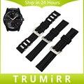 22 мм Силиконовой Резинкой для LG G Watch W100 W110 Вежливый W150 Asus ZenWatch 1 2 Мужчины Из Нержавеющей Стали Пряжка Ремешок Наручные браслет