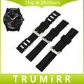 22mm Silicone Rubber Band for LG G Watch W100 W110 Urbane W150 Asus ZenWatch 1 2 Men Stainless Steel Buckle Strap Wrist Bracelet