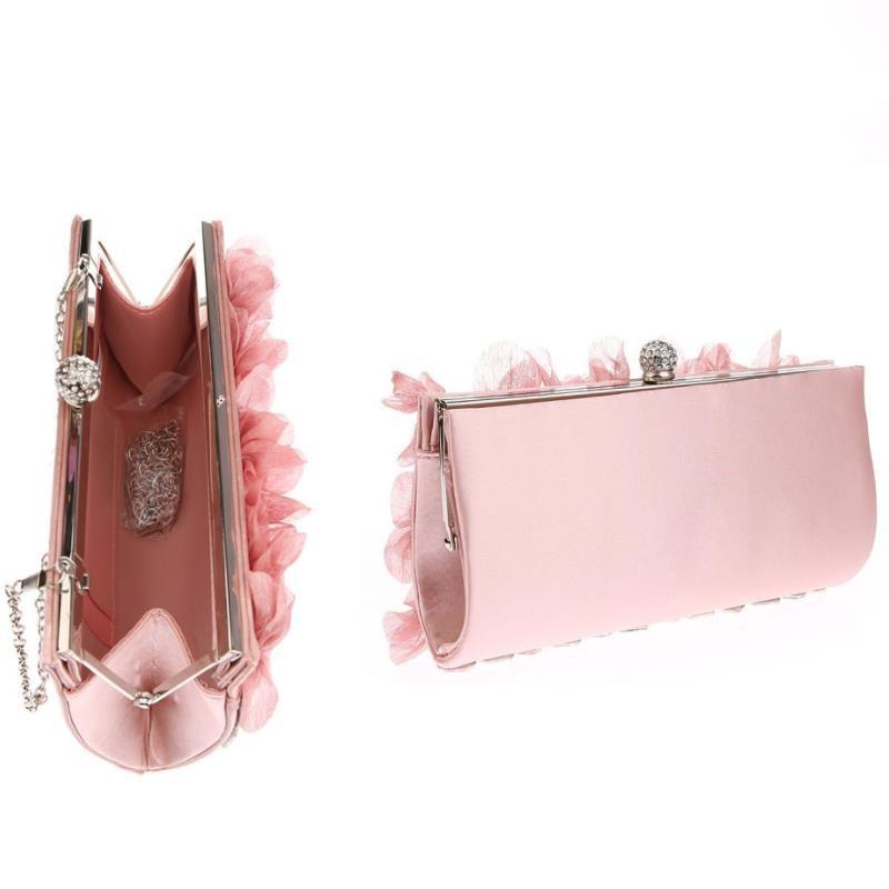 pétala sacos de noite feminino rosa correntes