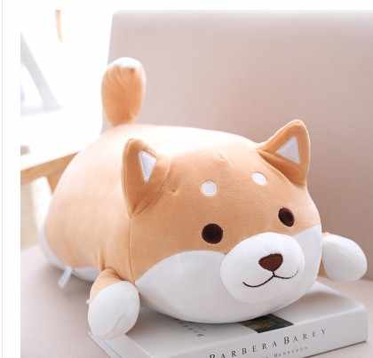 Gratis Pengiriman 1 Pcs 35/55 Cm Boneka Plush Lembut Kawaii Lemak Anjing Shiba Inu Kartun Bantal untuk Anak-anak girlfreind Hadiah Ulang Tahun