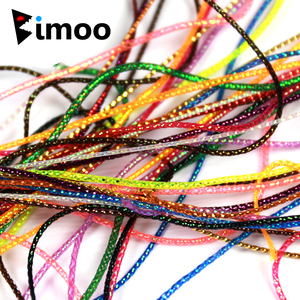 Bimoo 2yards/pack 1mm Fly Tying Midge Ribbing Nymph Streamer Body Material UV Pearl Flasher String