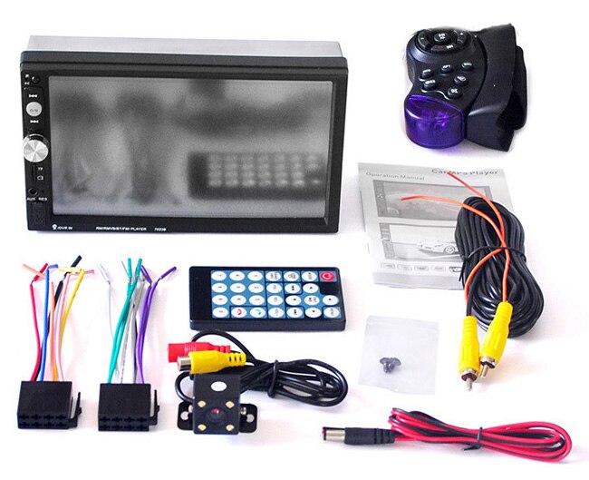 imágenes para 7023B Pantalla TFT de 7 Pulgadas Bluetooth Car Audio Estéreo Reproductor MP4 12 V 2-Din Auto Apoyo AUX FM USB SD MMC Apoyo MP5 mejor th