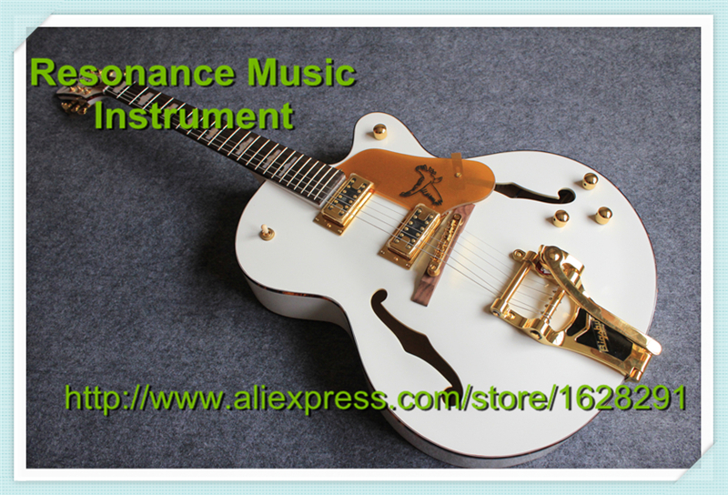Top Selling White Falcon Gret. Guitars Electrica China Golden Hardware & Bigsby Guitar Body Kits Custom Available top selling chinese sg 400 electric guitar zebra stripe finish guitars body