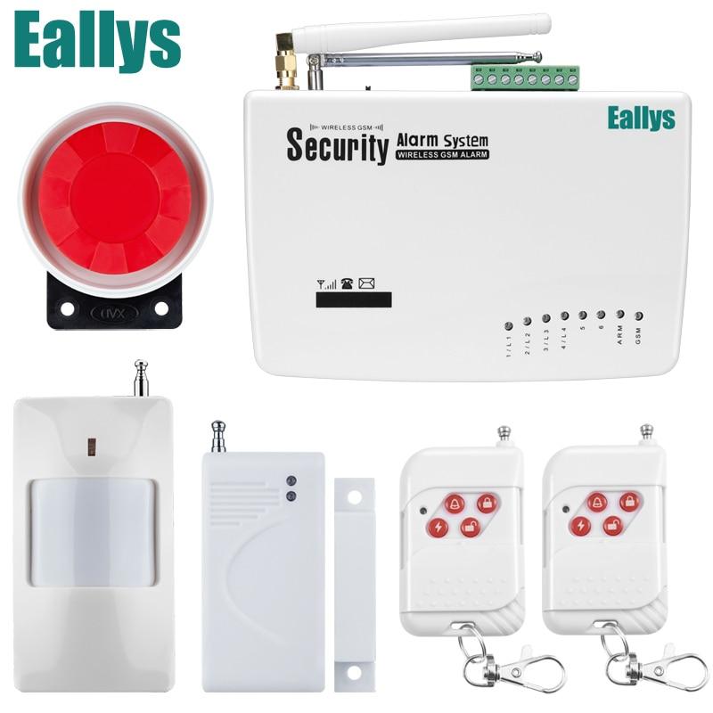 Casa de Segurança Sistemas De Alarme sem fio Sistema De Alarme GSM Dual Antena de Sinal Sem Fio 900/1800/1900 MHz apoio Russo/inglês