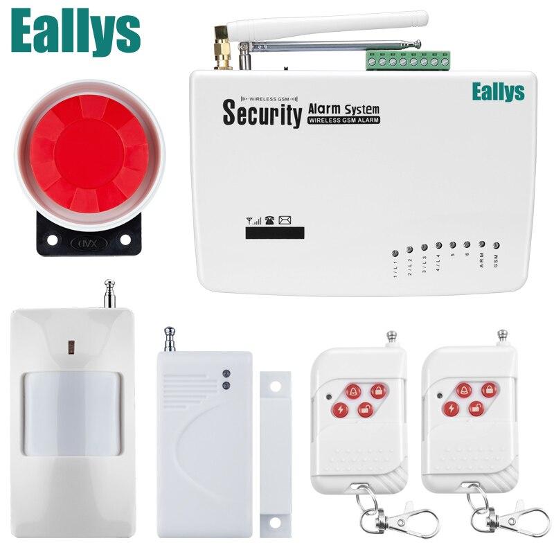 Беспроводная GSM сигнализация двойной антенны безопасности системы сигнализации домашней беспроводной сигнал 900/1800/1900 мГц Поддержка русского /английский