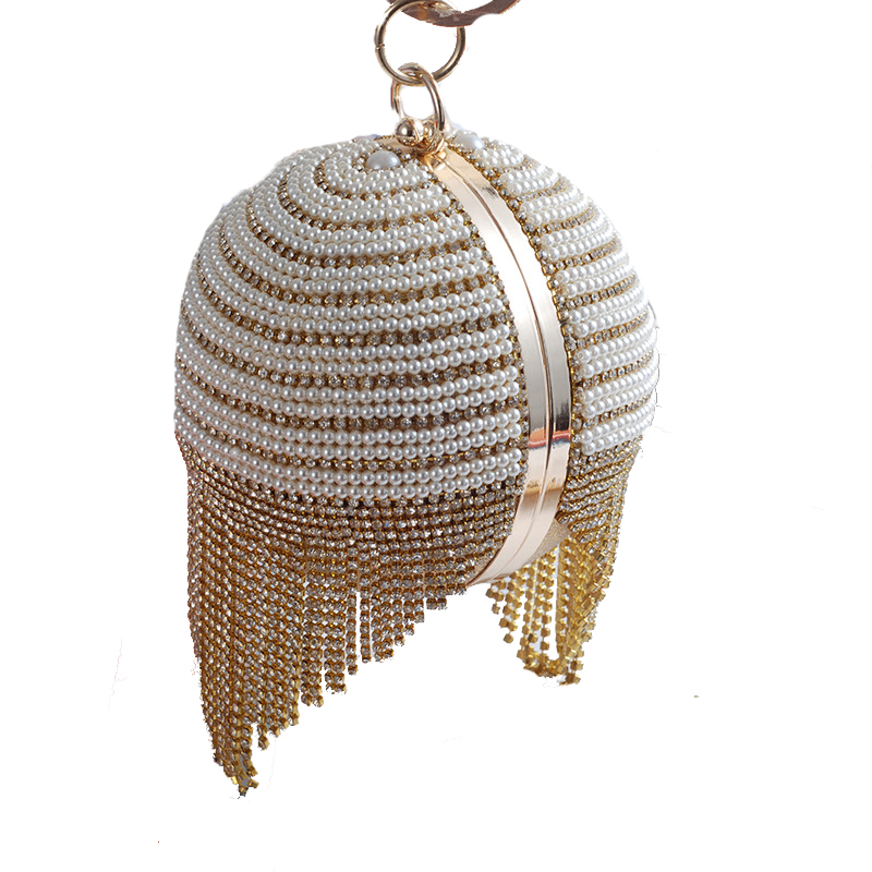 Round Design Beaded Women Rhinestones Luxurious Punk Small Lady Day Clutches Evening Bag Silver/Gold pochette soiree sac a main silver metal lady fashion evening bag silver stylish day clutches prom ladies handbag yls g74