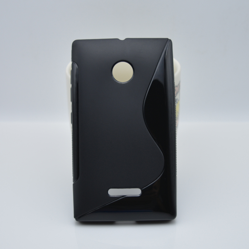 8 цвета простой и мода тпу мягкий гель s-линии крышка волна чехол кожи для Nokia Microsoft Lumia 435 / Lumia 532 / Dual SIM