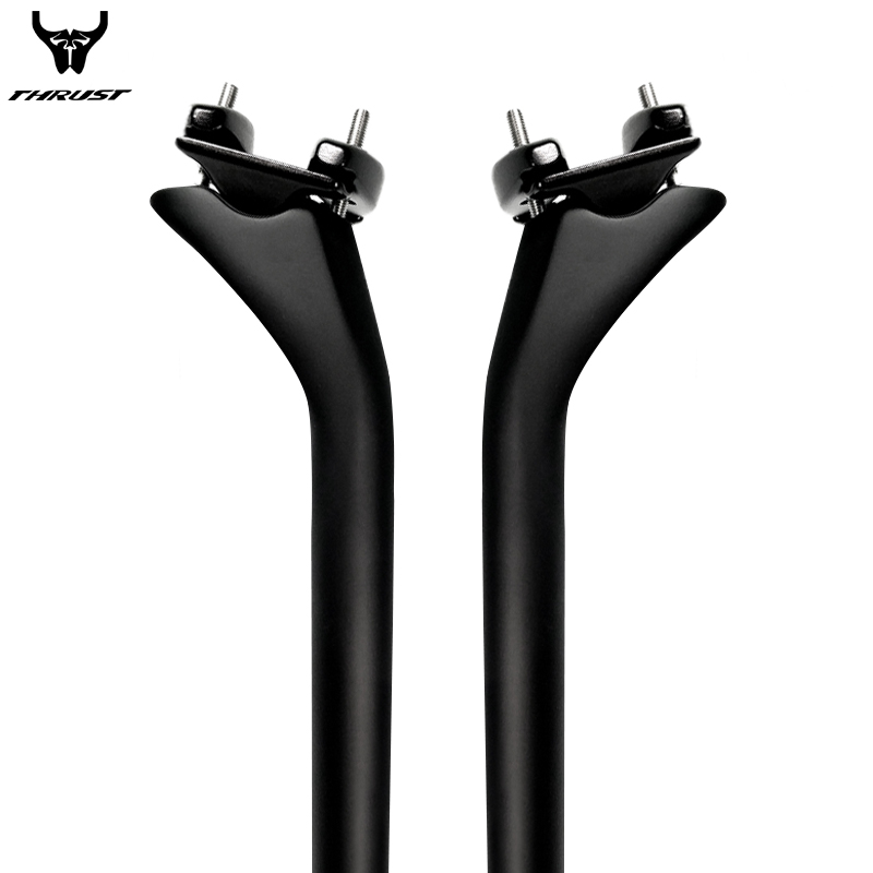 THRUST Carbon Fiber Road Bicycle Seatpost 27.2 31.8mm Carbon Bike Seatpost mtb Carbon Seat Tube total 415mm Offset 25mm