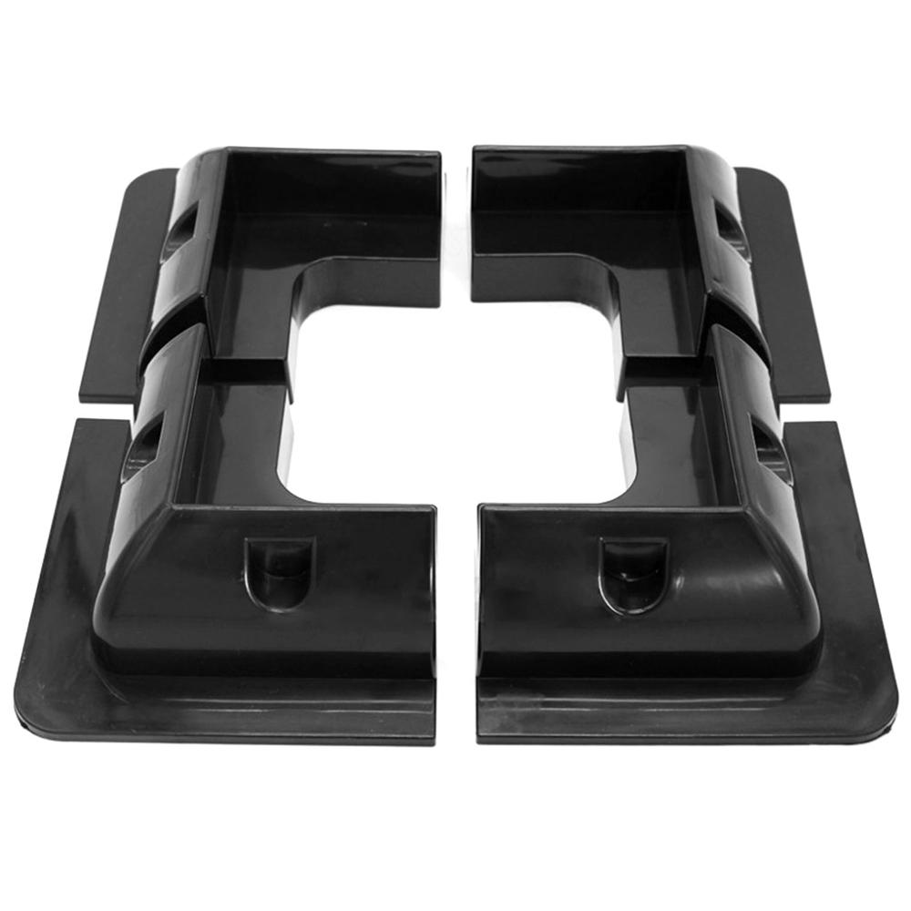 Image 4 - 4Pcs ABS Edges Solar Panel Mounting Brackets Black Corner Set Kit For Yacht/Solar Panel-in RV Parts & Accessories from Automobiles & Motorcycles
