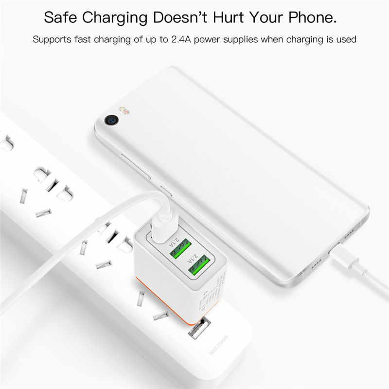3 порта USB зарядное устройство Быстрая зарядка 3,0 мобильный телефон быстрое дорожное настенное зарядное устройство адаптер ЕС США штекер для iPhone samsung Galaxy LG htc