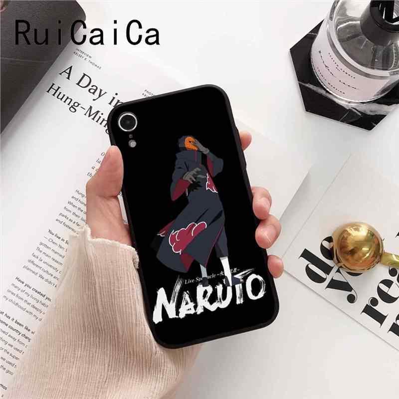 Ruicaica Naruto akatsuki schmerzen Itachi Uchiha Japanischen schwarz Telefon Fall Shell für iPhone 8 7 6 6 S 6 Plus X XS MAX 5 5 S SE XR Abdeckung