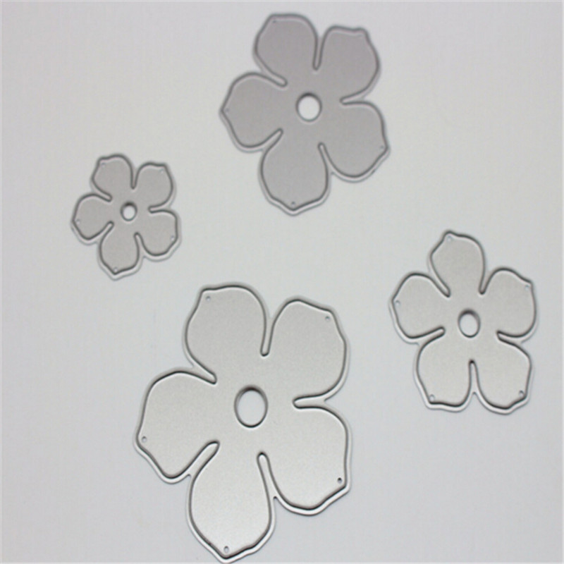 Flower Metal Die Cutting Scrapbooking Embossing Dies Cut Stencils Decorative Cards DIY album Card Paper Card Maker design personalized printing red wedding invitations cards blank paper card kit laser cut lace flower convite pack of 50