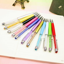 1 PCS New Design Diamond Ballpoint Pen Crystal Pens Student Stationery Ballpen School Office Material Supplies Promotion Gift(China)
