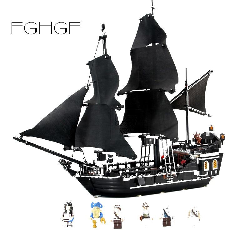 16006 Pirates of the Caribbean Black Pearl Dead Ship model toy bricks 804pcs HOT
