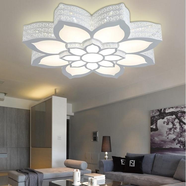 Fantaisie fer romantique individualité salon lumière LED plafonnier chambre étude Lotus lanterne AC110-240V