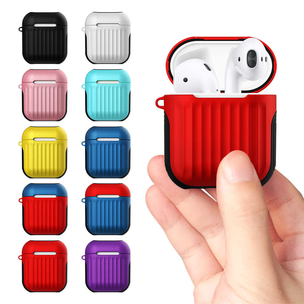 Earphone Case For Apple Airpods 1 Silicone Case For Airpods 2 Wired Charging Box Cover Shockproof Bags For Air Pods 1 2 Pouch