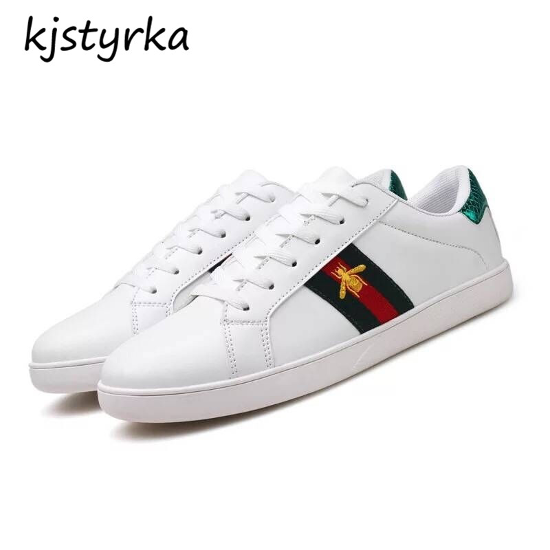 Kjstyrka 2018 brand Designer Casual Embroidery Shoes Woman Sneakers Spring Autumn Fashion Espadrilles Walking Shoes size 35-44