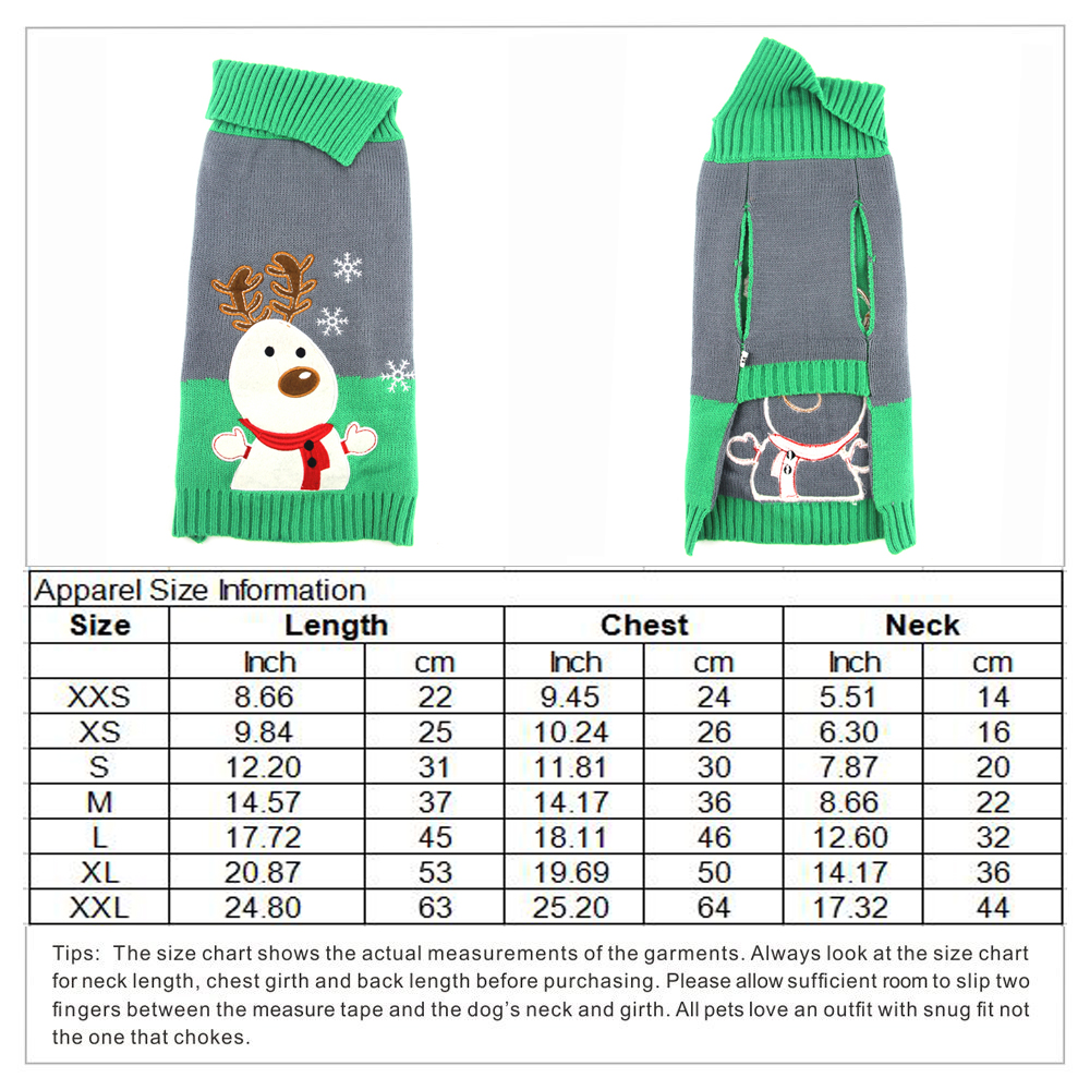 Christmas Dog Sweater Winter Puppy Clothing For Small Medium Pet Dogs Knitting Coat Warm Xmas Reindeer Dog Clothes DOGGYZSTYLE