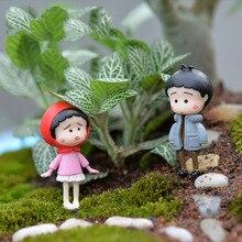4pcs Mini Kawaii Chinese Kids Figurine Resin Craft DIY Crafts Mix Resina Miniature Garden Decorations Moss Terrarium Supplies