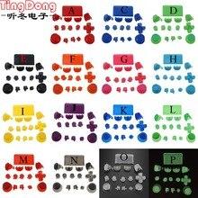 Ting Dong 16 takım L1 R1 L2 R2 Tetik Düğmeleri için Thumbstick kap PS4 Pro denetleyici PS4 4.0 JDS 040 JDM 040 Kontrol Düğmesi