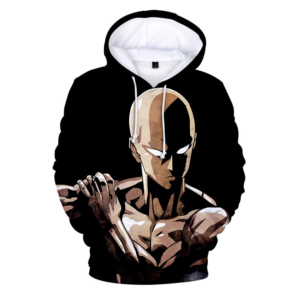 Printed Japanese Anime one punch man season 2 Hoodies Men/Women Sweatshirt Hip Hop Pullovers Harajuku 3D Hooded Men Sweatshirts image