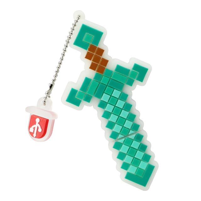 Minecraft treasured sword usb 4GB 8GB 16GB 32GB 64GB usb pen drive