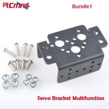 RCmall Алюминиевый Многофункциональный сервопривод кронштейн для MG995 MG996R S3003 или для MG946R или робота ножной кронштейн u-образный кронштейн робота