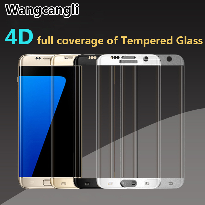 Wangcangli For samsung galaxy s7 edge screen protector 4D COLD CARVING Full Cover Tempered Glass for galaxy S6 edge S7 S8plus in Phone Screen Protectors from Cellphones Telecommunications