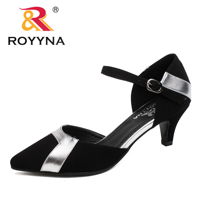 ROYYNA New Fashion Style Women Pumps Pointed Toe Women Shoes Shallow Lady Wedding Shoes Comfortable Light Soft Free shipping royyna new sweet style women sandals cover heel summer gingham women shoes casual gladiator ladies shoes soft fast free shipping