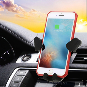 Image 4 - 車ワイヤレス電話の充電器 apple の iphone XS XR × 8 プラスサムスン注 9 S9 S10 自動車電話ホルダー高速チー車の自動充電器
