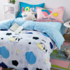 Lovely Cows Clouds Print Fresh Cartoon Bedclothes Twin Queen Full Size Comforter Cover Bedsheet Pillowcase Cotton