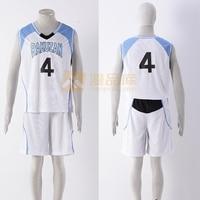Kuroko no Basuke Basket RAKUZAN Suit basketball Jersey mens uniforms boys sport clothes White No.4 cosplay costume