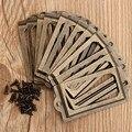 12 Pçs/set Rótulo de Bronze Antigo do Metal Pull Handle Quadro Titular Do Cartão de Nome de Arquivo Para O Caso Caixa de Gaveta Do Armário Móveis Bin