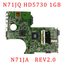 N71JQ Laptop motherboard For Asus N71J N71JA REV2.0 Mainboard Support i3/i5/i7 Processor HD5730 1GB 216-0772003 fully tested