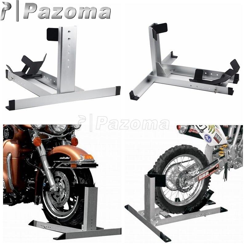 Cale de remorque de support de plancher de cale de roue de moto de Chrome universel pour Harley Road King Softail Honda Suzuki Yamaha